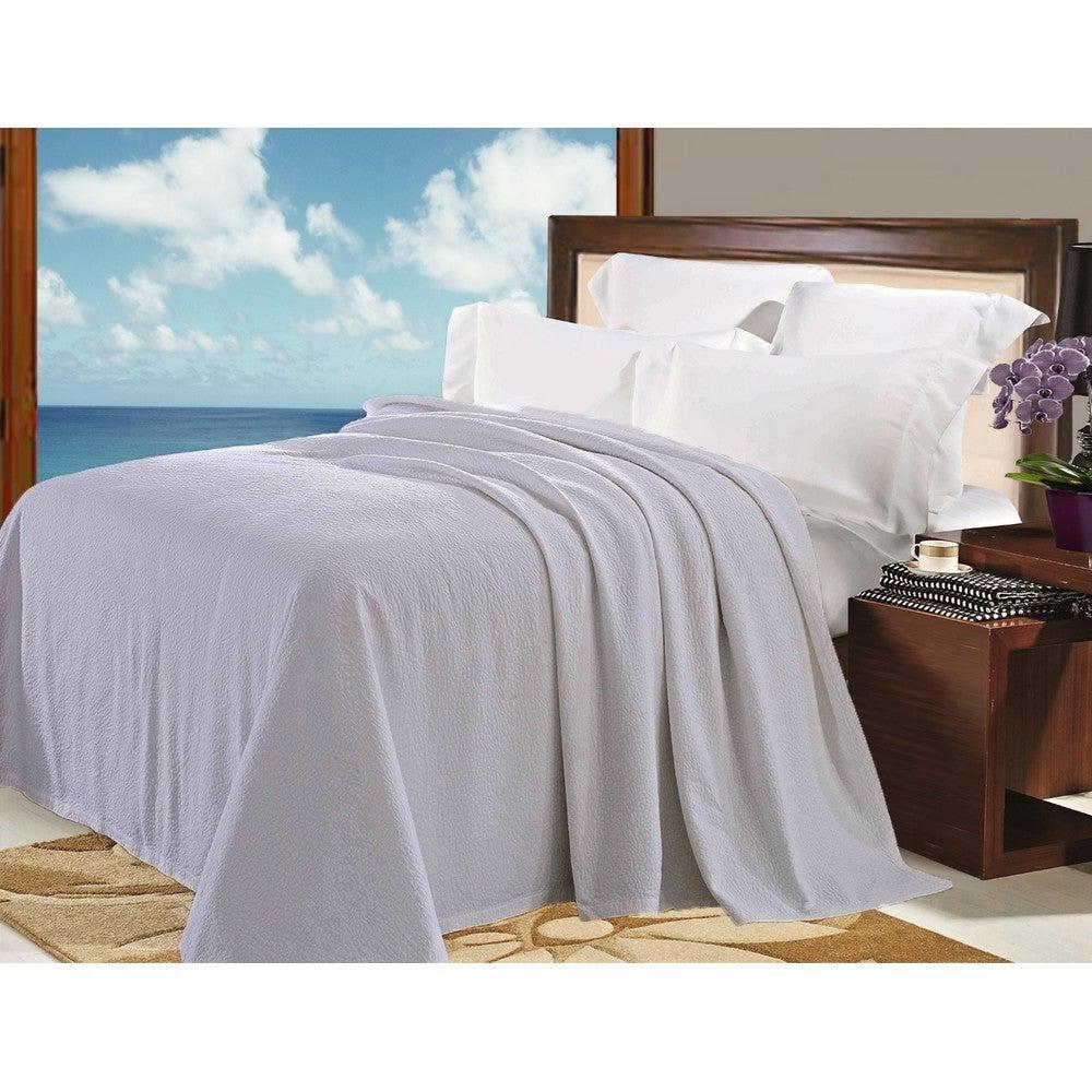 Natural Comfort Matelasse Blanket Coverlet in Light Grey ...