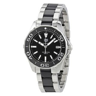 Tag Heuer Women's WAY131A.BA0913 'Aquaracer' Two-Tone Stainless steel and Ceamic Watch|https://ak1.ostkcdn.com/images/products/14986738/P21487613.jpg?_ostk_perf_=percv&impolicy=medium