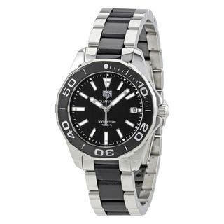 Tag Heuer Women's WAY131A.BA0913 'Aquaracer' Two-Tone Stainless steel and Ceamic Watch|https://ak1.ostkcdn.com/images/products/14986738/P21487613.jpg?impolicy=medium