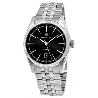 Hamilton Men's H42415031 'Timeless Class' Black Dial Stainless Steel Swiss Automatic Watch
