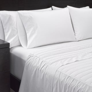 Beau Sharper Image Sheet Set With Down Alternative Filled Flat Sheet Set