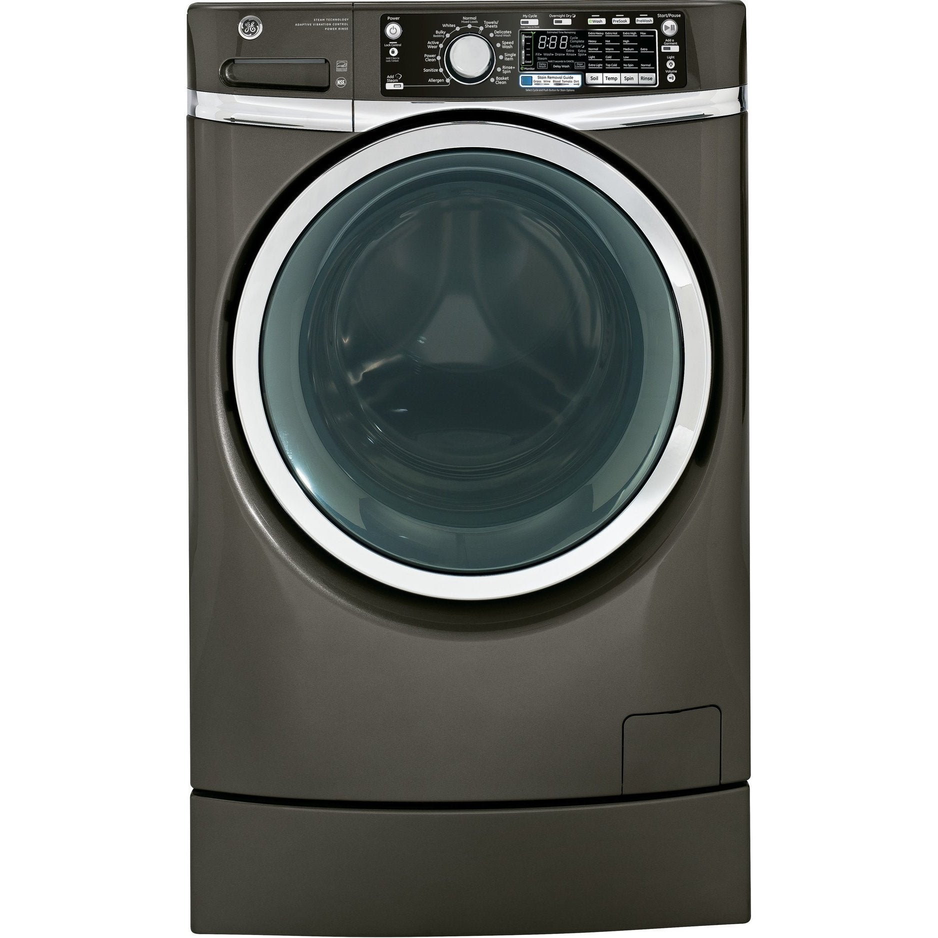GE GE GFWR4805FMC Energy Star 120 Volts Front Load Washer...