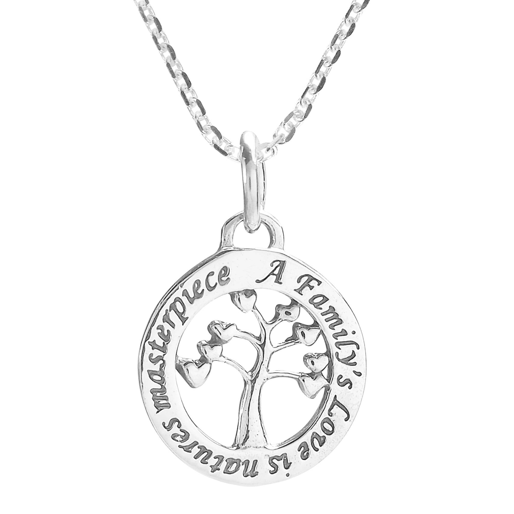 Sterling Silver One Sided I Love Tae Kwon Do Necklace