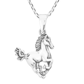 Handmade Noble Stallion .925 Sterling Silver Horse Necklace (Thailand)