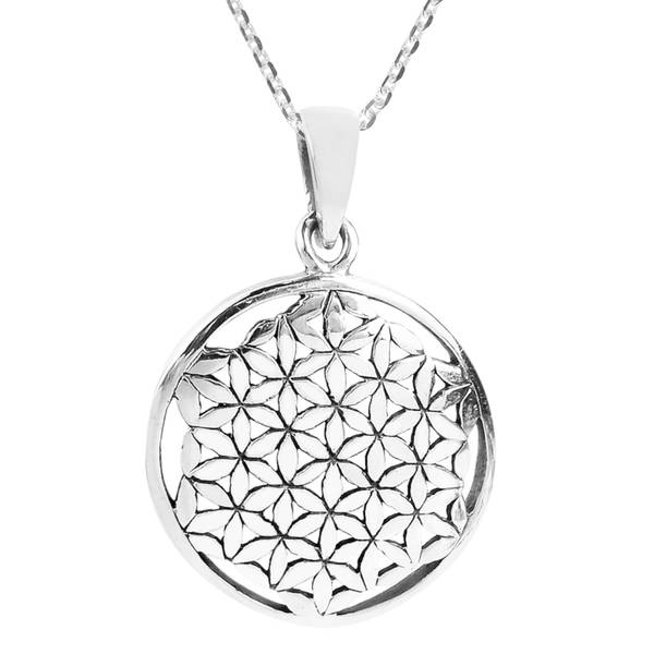 Sterling Silver 26 MM Diamond Accented Locket Charm Pendant