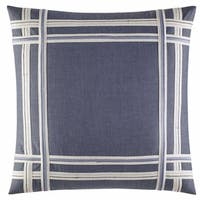 Nautica Fairwater Applique 18 Inch Decorative Throw Pillow