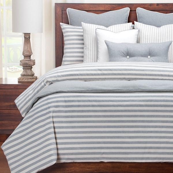 Siscovers Luxury Farmhouse Pewter Cotton-blend Cottage Down Alt Duvet Set