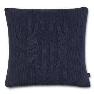 Nautica Bartlett Knit Navy Square Pillow
