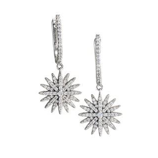"""Antwerp's GALAXY HOOP DANGLES"""" Circular Earrings in Sterling Silver"""