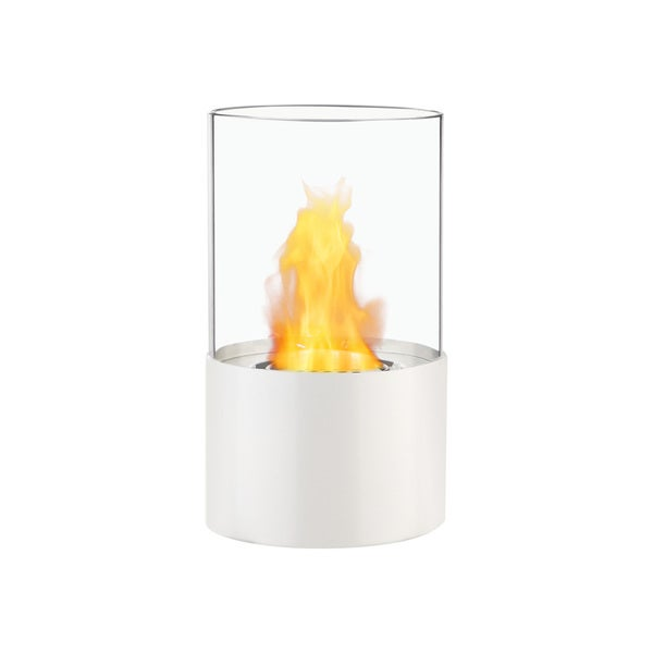 Ignis Circum White Tabletop Ventless Ethanol Fireplace