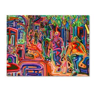 Josh Byer 'Folk' Canvas Art