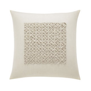 Vera Wang Winter Blossoms Ivory Square Pillow