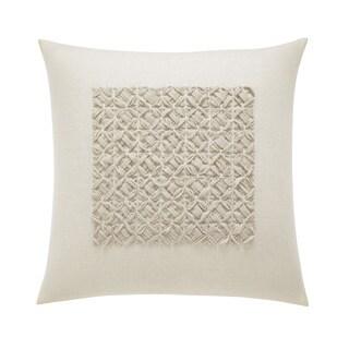 Vera Wang Winter Blossoms Ivory Square Pillow