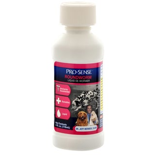8 in 1 4 Oz Pro-Sense Roundworm Liquid De-Wormer For Dogs