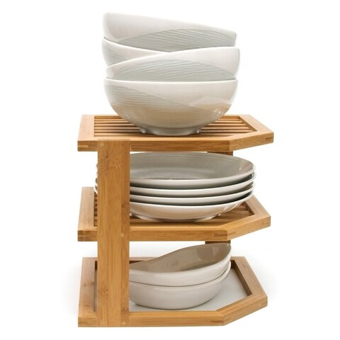 Lipper Bamboo 3-Tier Corner Shelf