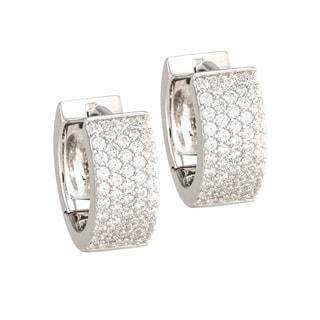 "Antwerp's ""5-ROW RECTANGULAR"" Earrings in Sterling Silver"