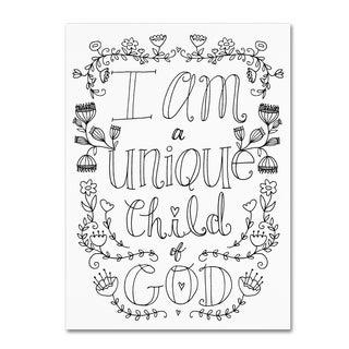 Elizabeth Caldwell 'Unique Child of God' Canvas Art
