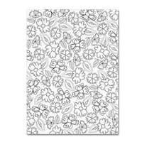 Elizabeth Caldwell 'May Flowers' Canvas Art - White/Black