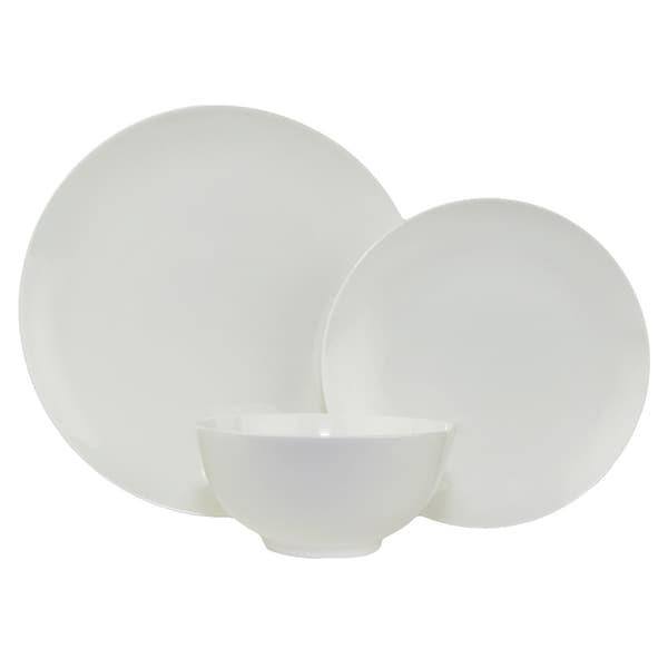 Pure Vanilla Coupe White 18-piece Bone China Dinner Set