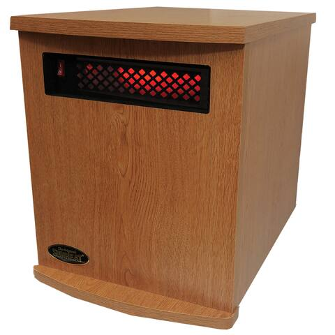 Original SUNHEAT USA1500 5 Year Warranty Infrared Heater-Fully Made in the USA- Oak