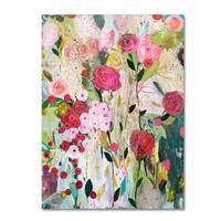 Carrie Schmitt 'Wild Rose' Canvas Art - Multi