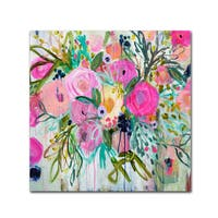 Carrie Schmitt 'Rose Burst' Canvas Art