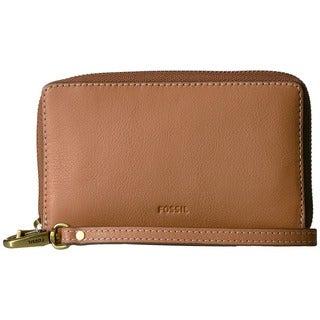 Fossil Emma RFID Beige Leather Smartphone Wristlet