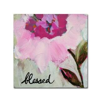 Carrie Schmitt 'Blessed' Canvas Art