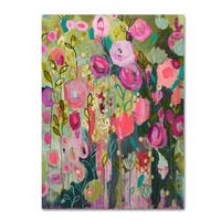 Carrie Schmitt 'After Time With You' Canvas Art - Pink/Green