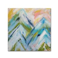 Carrie Schmitt 'Colorado Bluebird Sky' Canvas Art - Blue