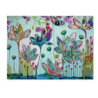 Carrie Schmitt 'Flying Lotus' Canvas Art