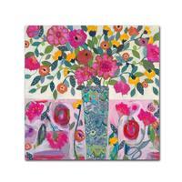 Carrie Schmitt 'Amazing Vase' Canvas Art - Pink