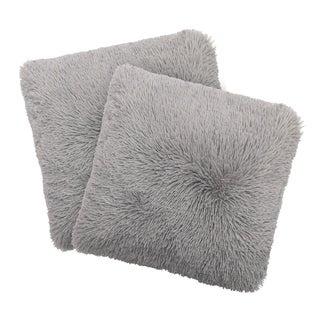 Dolce Home Alexus 2-Piece Shag Decorative Pillow Set