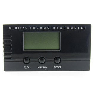 Visol Black Digital Thermo Hygrometer for Cigar Humidors