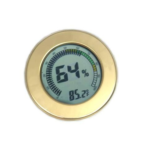Visol Modern Circular Digital Hygrometer - Goldtone