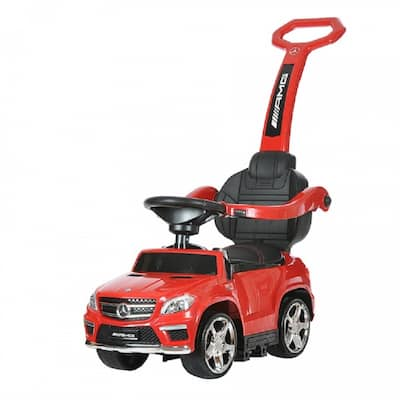 Best Ride On Cars Red 4-in-1 Mercedes Push Car