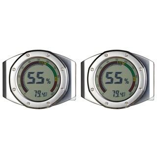 Pack of Two (2) Visol UltraModern Circular Digital Hygrometers