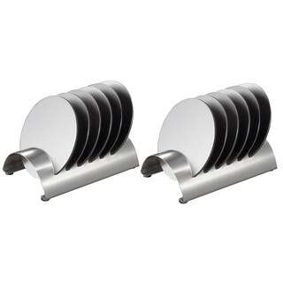 Two (2) Pack of Visol Julian Stainless Steel Round Coaster Sets