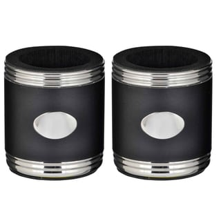 Visol Taza Black & Steel Can Holder - Set of Two