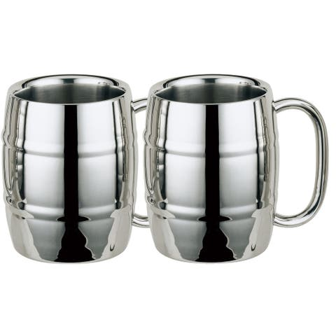 Set of Two (2) Visol Volksfest Double Walled 14oz Beer Mugs