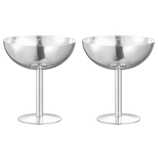 Visol Isabelle Stainless Steel Cocktail Glass - Set of Two