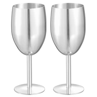 Visol Jacqueline Stainless Steel Champagne Glass - Set of Two