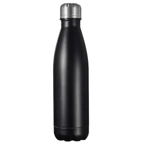 Visol Marina Double Wall Water Bottle 16oz - Black Matte