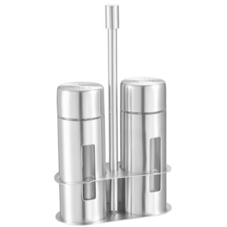 Visol Gilberte Stainless Steel Salt and Pepper Shaker Set