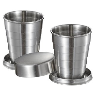 Visol Scope Stainless Steel Folding 2oz Shot Cups