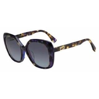 Fendi Round 0001/F/S 07PL HA Women's Brown Frame Brown Lens Sunglasses