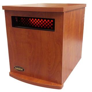 Original SUNHEAT USA1500 5 Year Warranty Infrared Heater-Fully Made in the USA- Cherry
