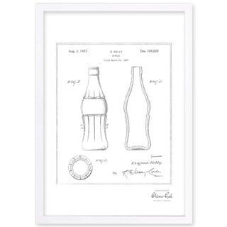OliverGal'Coca Cola Bottle 1937, Silver Metallic' Framed Art