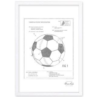 OliverGal'soccer ball 2012, Silver Metallic' Framed Art