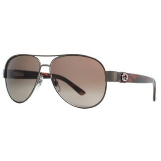 Gucci Aviator 4282/S-0OPZ Women's Brown Frame Brown Lens Sunglasses